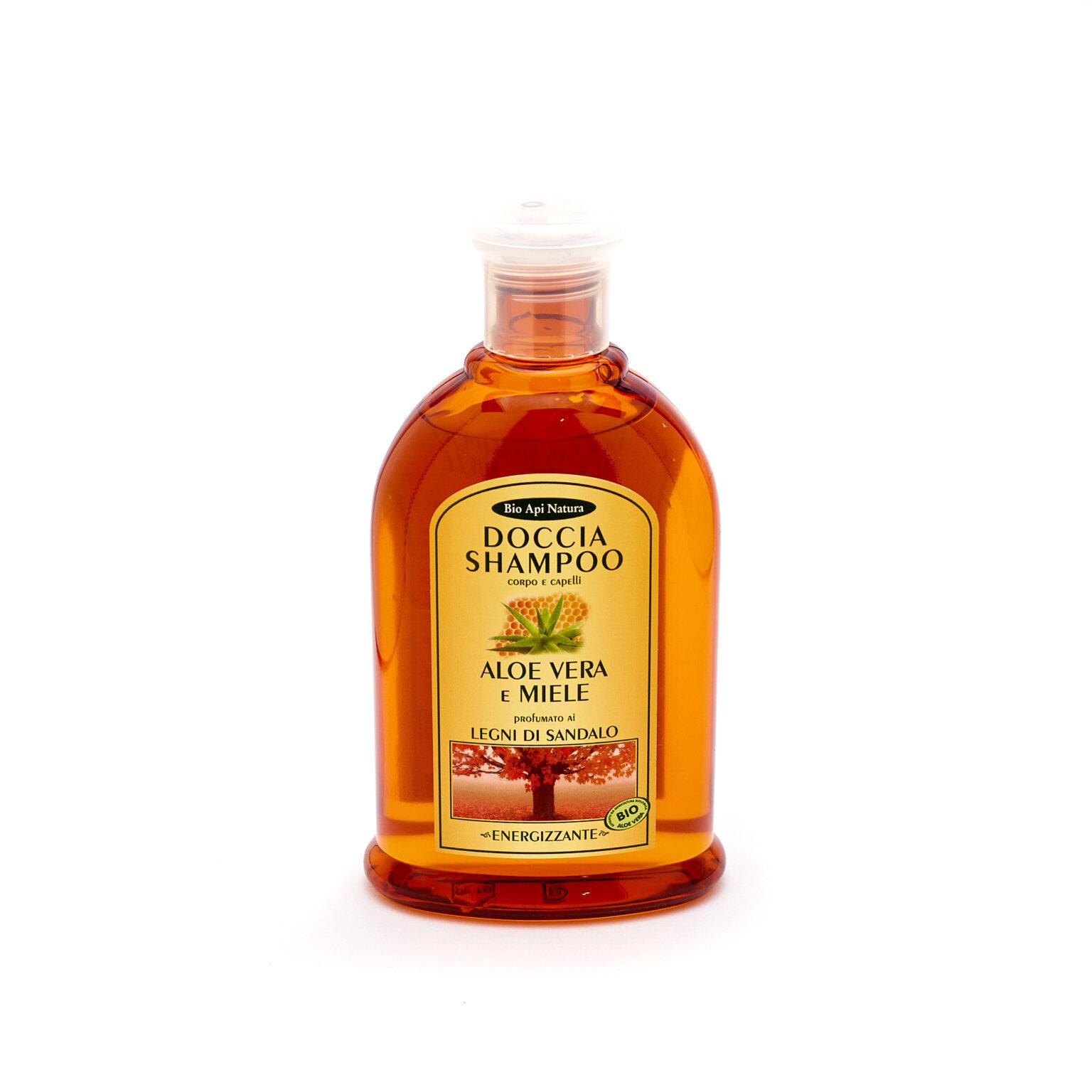 натуральный гель - шампунь для душа Сандал BioApiNatura